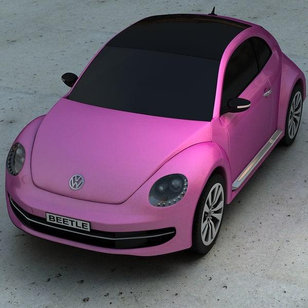3d beetle car