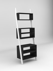 obj bookcase display stand