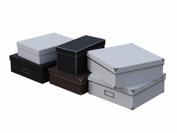 3d model of realistic shopping boxes