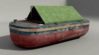 3d old barge model