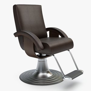 3d model barber chair