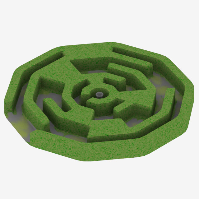 obj circle labyrinth uv-mapped uv