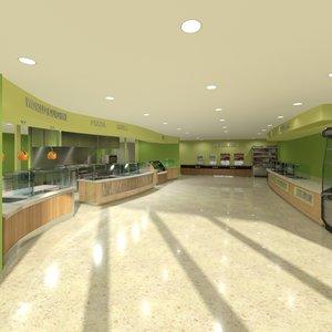 3d model cafeteria equipment