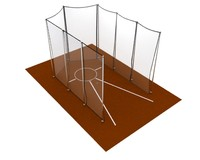discus throwing cage