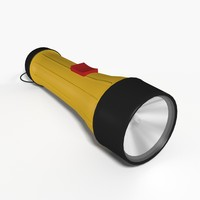 flashlight light 3d model