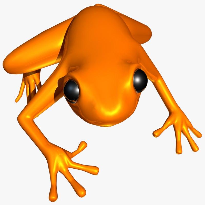 colorful poison dart frog 3d model