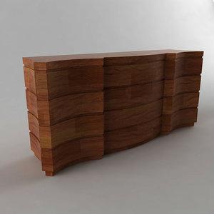 3ds max wooden cabinet giorgio