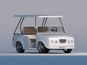 3d model luxurious golf cart