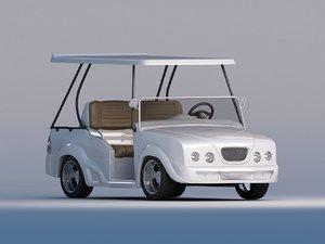 3d model luxurious golf cart