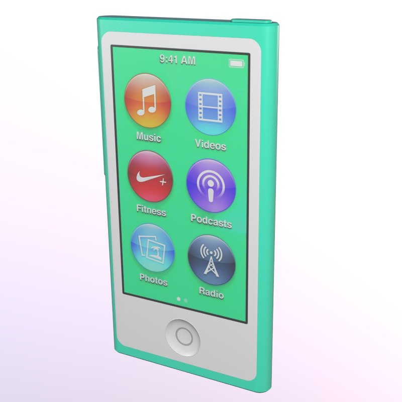 3ds max ipod nano apple display