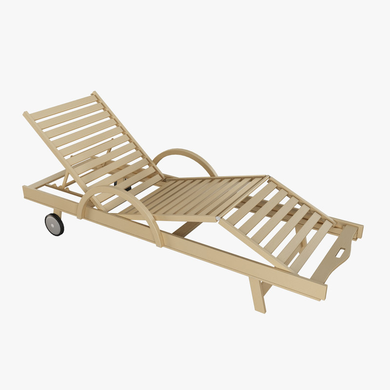 3dsmax wooden lounge chair