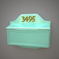 mailbox v-ray 3d model