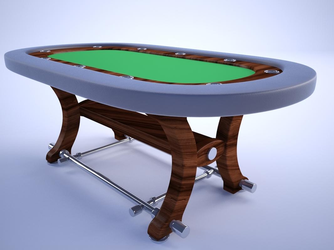 poker table 3d 3ds