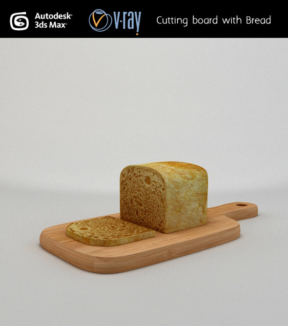 cutting board bread 3d max