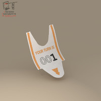 queue ticket 3d dxf