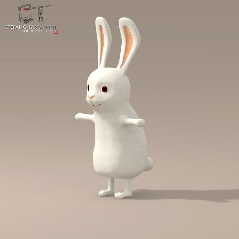 rabbit character 3d 3ds