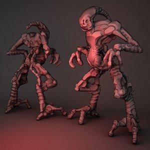 maya creature zbrush