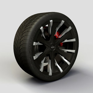 baccarat phang rims tyre 3d model