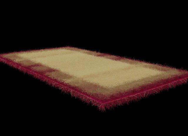 3d carpet fur model