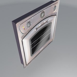 oven old antique ardo 3d model