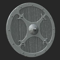 3d model of zbrush shield
