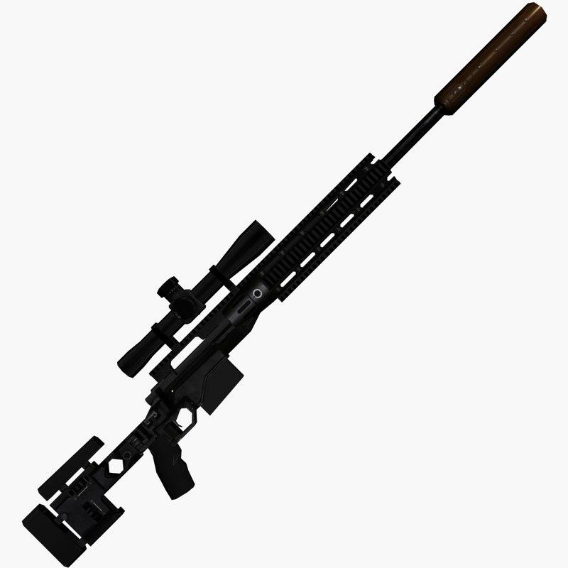 3d sniper rifle xm2010 model