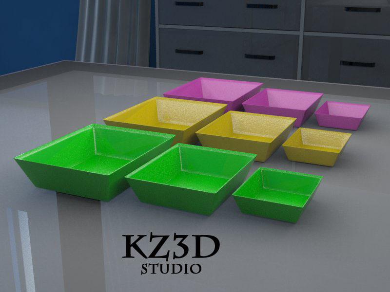 d sets square bowl model