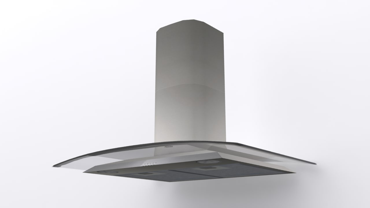 miele glass chimney 1 3d model