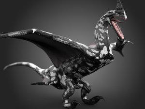 max dragon rigged animation