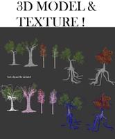 3d set trees model