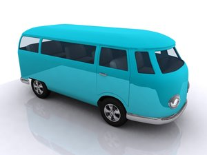 kombi bus van antique 3d 3ds