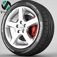 3d model of s60 rim tyre