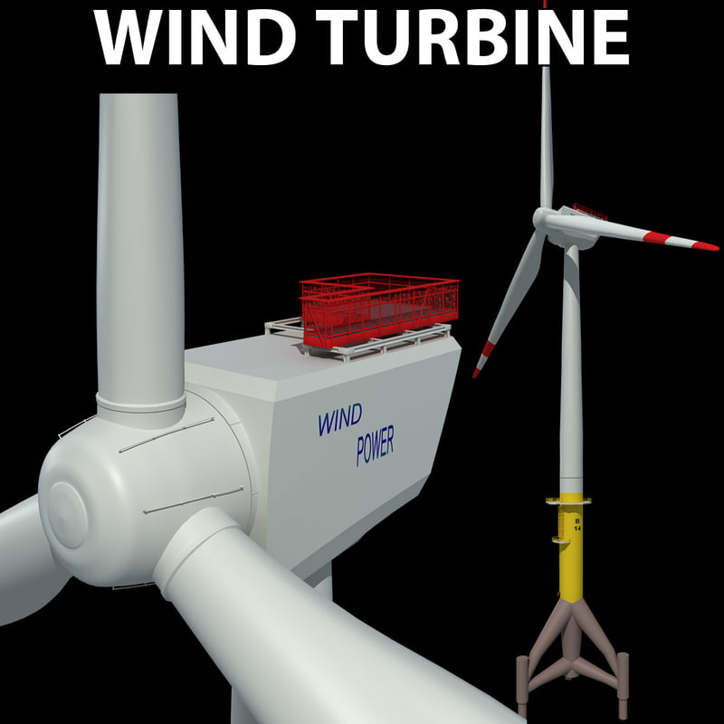 3d wind energy turbine shore