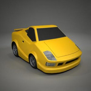 3d model sport toon car