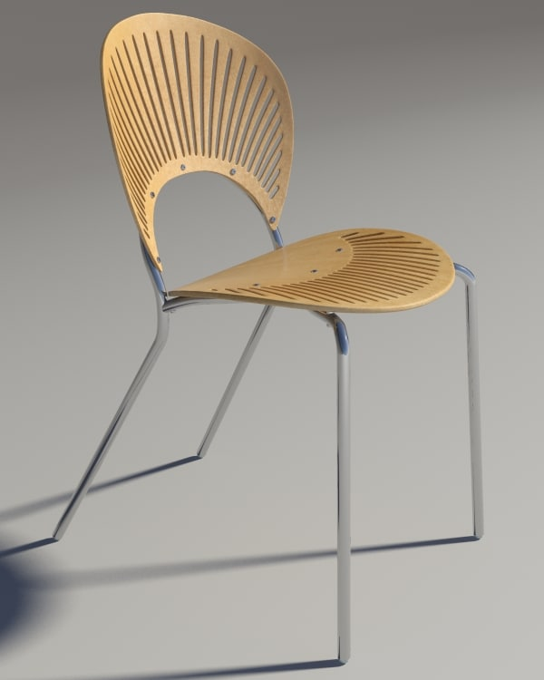 chair trinitad style wood 3d model