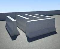 concrete barrier 3d 3ds