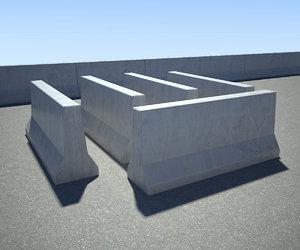 concrete barrier 3d 3ds