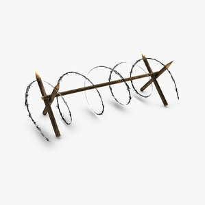 3ds max barbed wire barricade