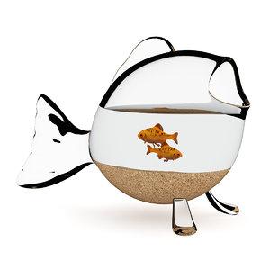 fish aquarium 3d max