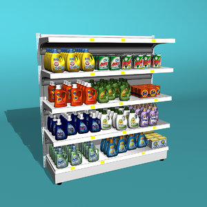 detergent shelf 3d max