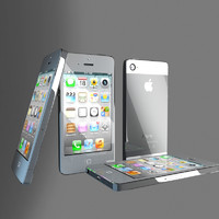 3d iphone 5 phone model