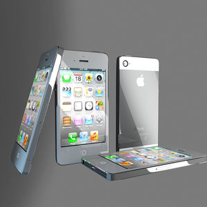 3d iphone 5 phone model