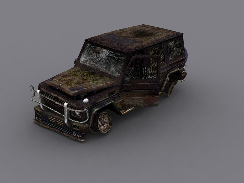 brabus damaged 3d model