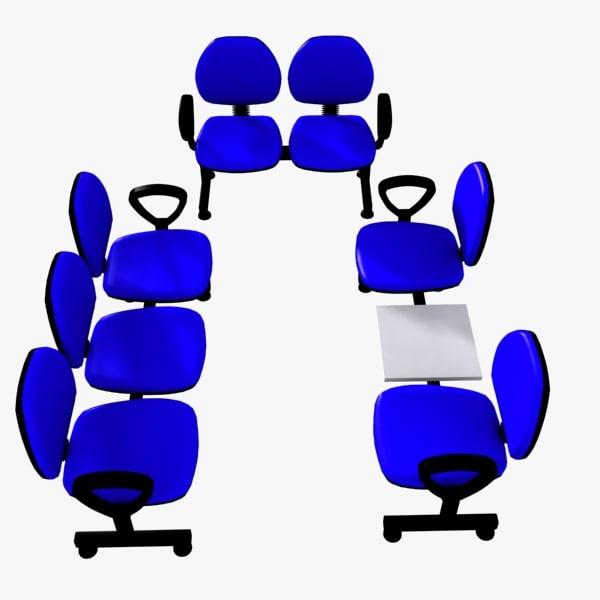 3d max waiting chair