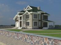 3d cityscape house