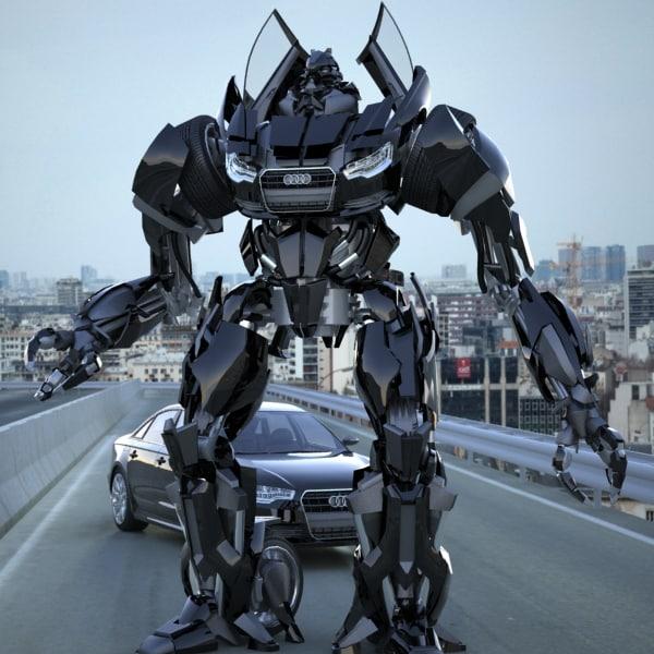 3ds max autobot audi a6