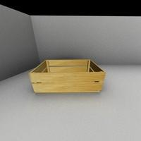 fruit box 3d model