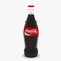 coca-cola glass bottle 3d model