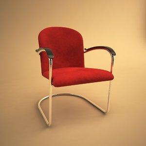 414 gispen chair 3d max