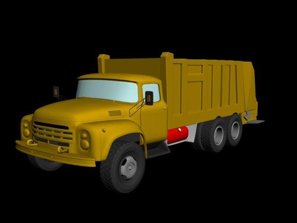 3d model of garbage truck